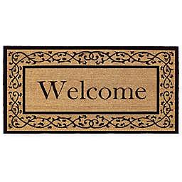 "Calloway Mills Abbington 36"" x 72"" Coir Door Mat in Natural/Black"