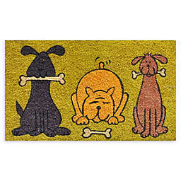 "Calloway Mills Doggie Fun 17"" x 29"" Multicolor Coir Door Mat"