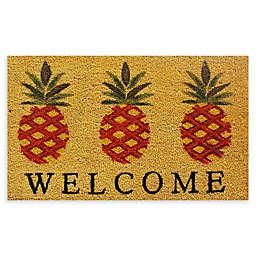 """Calloway Mills Pineapple 17"""" x 29"""" Multicolor Coir Door Mat"""