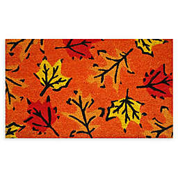 "Calloway Mills Fall Leaves 17"" x 29"" Coir Door Mat"