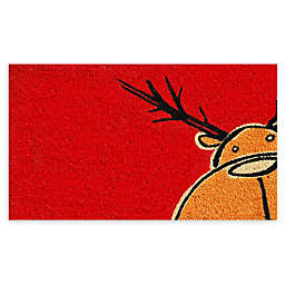 "Calloway Mills Christmas Moose 17"" x 29"" Multicolor Coir Door Mat"