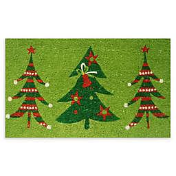 "Calloway Mills Christmas Trio 17"" x 29"" Multicolor Coir Door Mat"