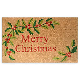 """Calloway Mills Merry Christmas 17"""" x 29"""" Multicolor Coir Door Mat"""