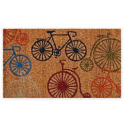 """Calloway Mills Bicycles 24"""" x 36"""" Multicolor Coir Door Mat"""