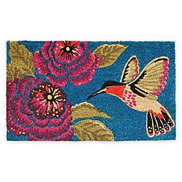 """Calloway Mills Hummingbird Delight 17"""" x 29"""" Coir Door Mat"""