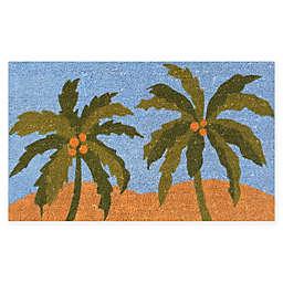 """Calloway Mills Island Breeze 17"""" x 29"""" Multicolor Coir Door Mat"""