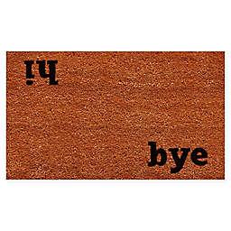 """Calloway Mills Hi Bye 17"""" x 29"""" Coir Door Mat in Natural/Black"""