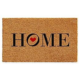 "Calloway Mills Heart Home 17"" x 29"" Coir Door Mat in Natural/Black"