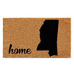 "Calloway Mills Mississippi Home 18"" x 30"" Coir Door Mat in Natural/Black"