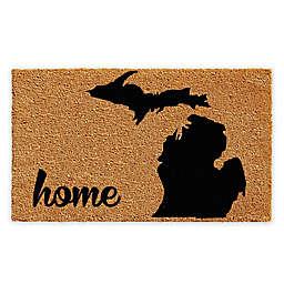 "Calloway Mills Michigan Home 18"" x 30"" Coir Door Mat in Natural/Black"