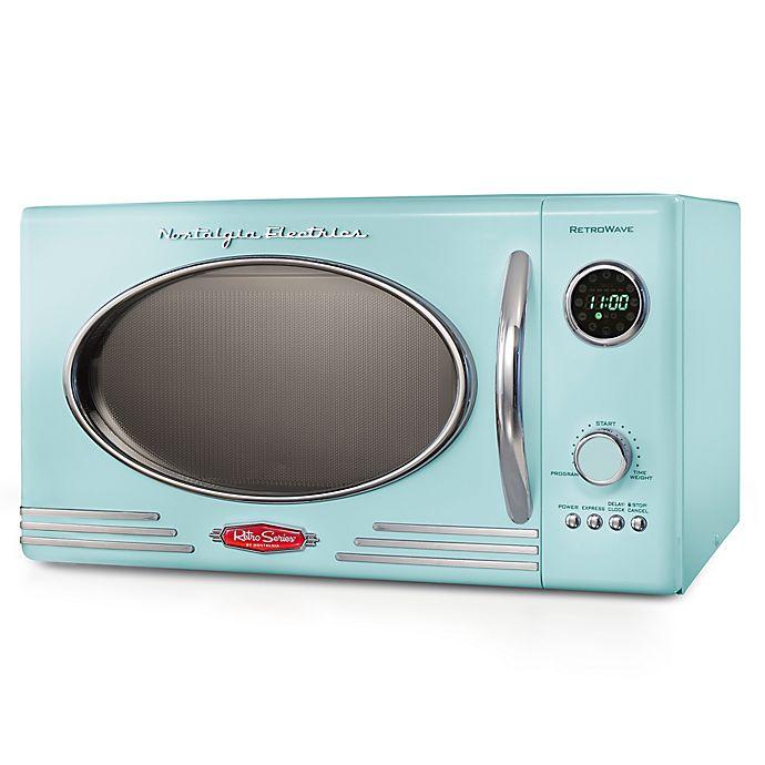 Alternate image 1 for Nostalgia Electrics Microwave Oven in Aqua