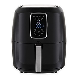Emerald 5.2 Liter Air Fryer in Black