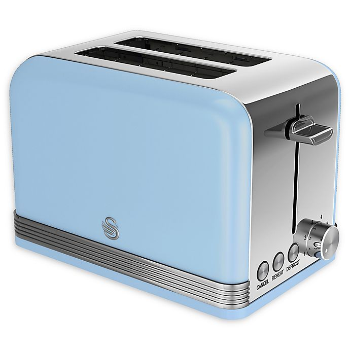 Alternate image 1 for Swan® Retro Style 2-Slice Toaster