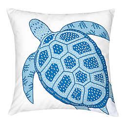 C&F Enterprises, Inc Turtle Square Throw Pillow in Blue