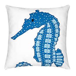 C&F Enterprises, Inc Seahorse Square Throw Pillow in Blue
