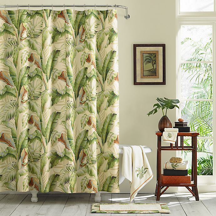 Alternate image 1 for Tommy Bahama® Palmiers 72-Inch x 84-Inch Shower Curtain in Green
