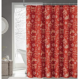 Gift of Love Shower Curtain in Red