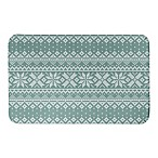 "Designs Direct 34"" x 21""Knit Snowflake Pattern Bath Mat in Green"