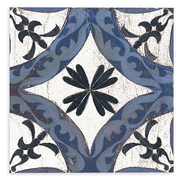 Alternate image 1 for Silivia Vassileva Downtown I 36-Inch Square Canvas Wall Art in Indigo/Cream