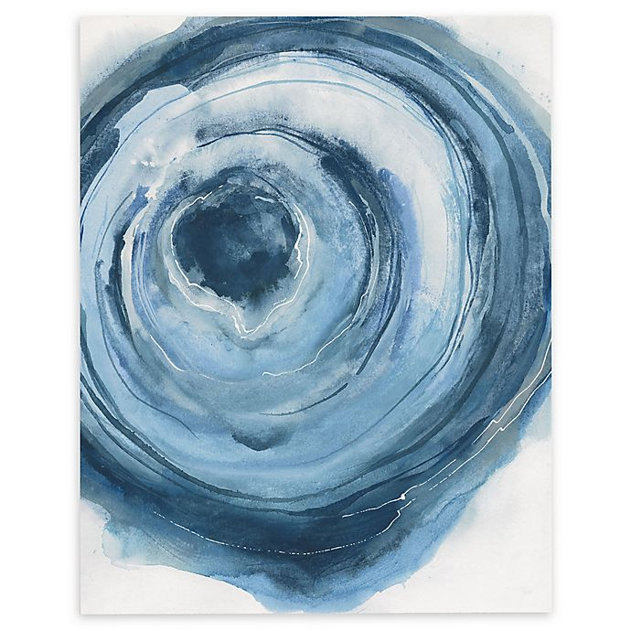 Alternate image 1 for Watercolor Geode II 14-Inch x 18-Inch Rectangular Canvas Wall Art in Blue