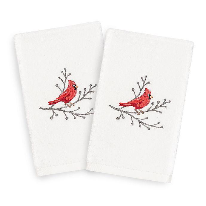Alternate image 1 for Linum Home Christmas Cardinal Hand Towels (Set of 2)