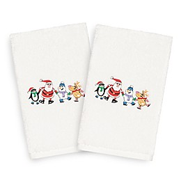 Linum Home Christmas Skating Party Hand Towels (Set of 2)