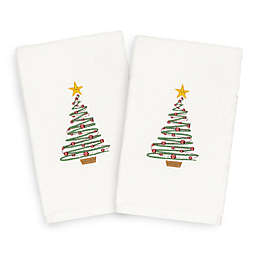 Linum Home Christmas Tree Hand Towels (Set of 2)