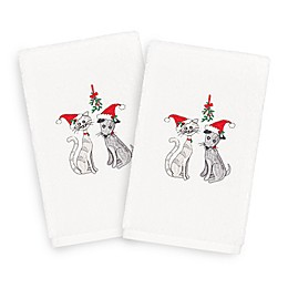 Linum Home Christmas Cute Couple Hand Towels (Set of 2)