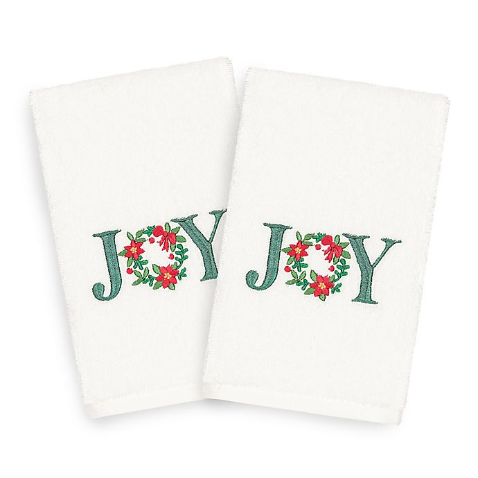 Alternate image 1 for Linum Home Christmas Joy Hand Towels (Set of 2)
