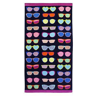 Destination Summer Neon Sunglasses Beach Towel