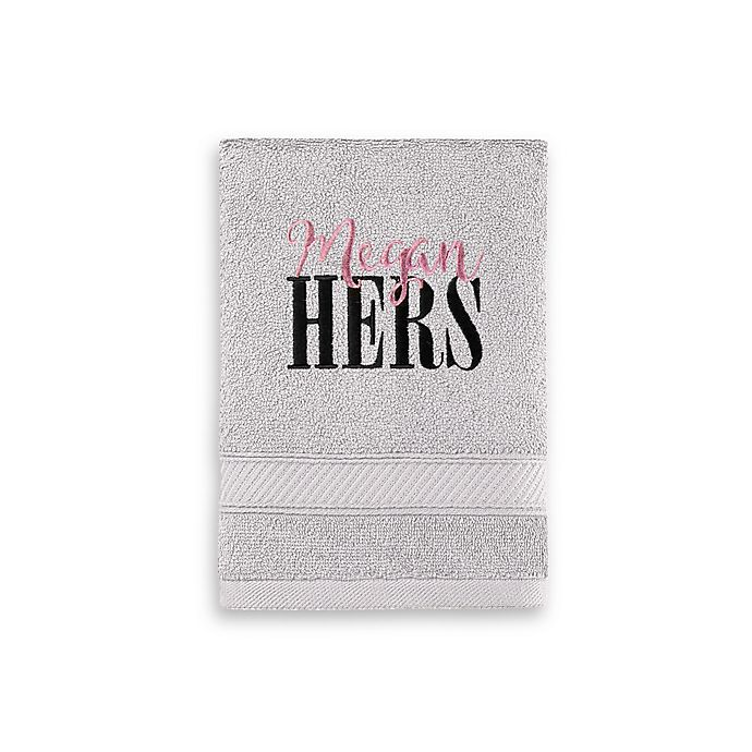 Alternate image 1 for Monogrammed  Wamsutta® Hygro® His or Hers Duet Hand Towel