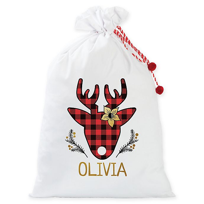 Alternate image 1 for Personalized Planet Deer Santa Gift Sack