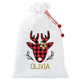 Personalized Planet Deer Santa Gift Sack