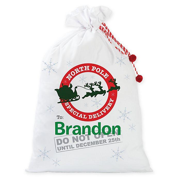 Alternate image 1 for Personalized Planet Do Not Open Santa Gift Sack