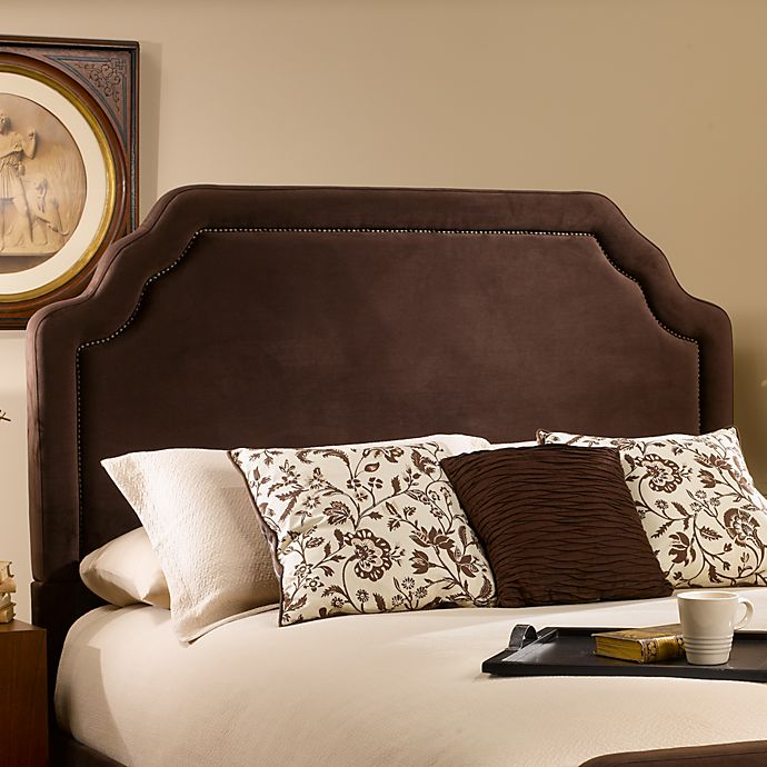 Alternate image 1 for Hillsdale Carlyle Queen Headboard with Rails in Chocolate