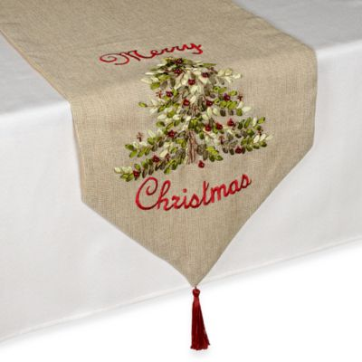 Ribboned Christmas Tree Table Runner Bed Bath And Beyond Canada
