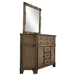 Lifestyle Solutions Bruno 6-Drawer Dresser in Vintage Brown