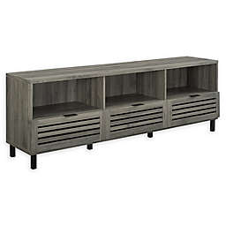 Forest Gate™ Jackson Slatted Door TV Stand in Slate Grey