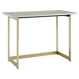 Forest Gate Faux Marble Computer Desk