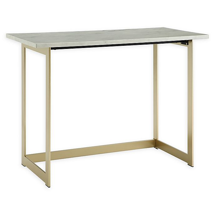 Alternate image 1 for Forest Gate Faux Marble Computer Desk
