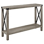 Forest Gate Metal Entryway Table in Grey