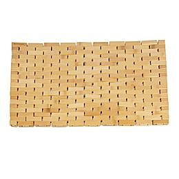 Mind Reader Luxury Anti-Slip Shower Bath Mat in Brown