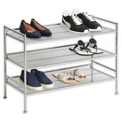 Seville Classics Inc. 3 Tier Multi Position Mesh Shoe Rack by Bed Bath And Beyond