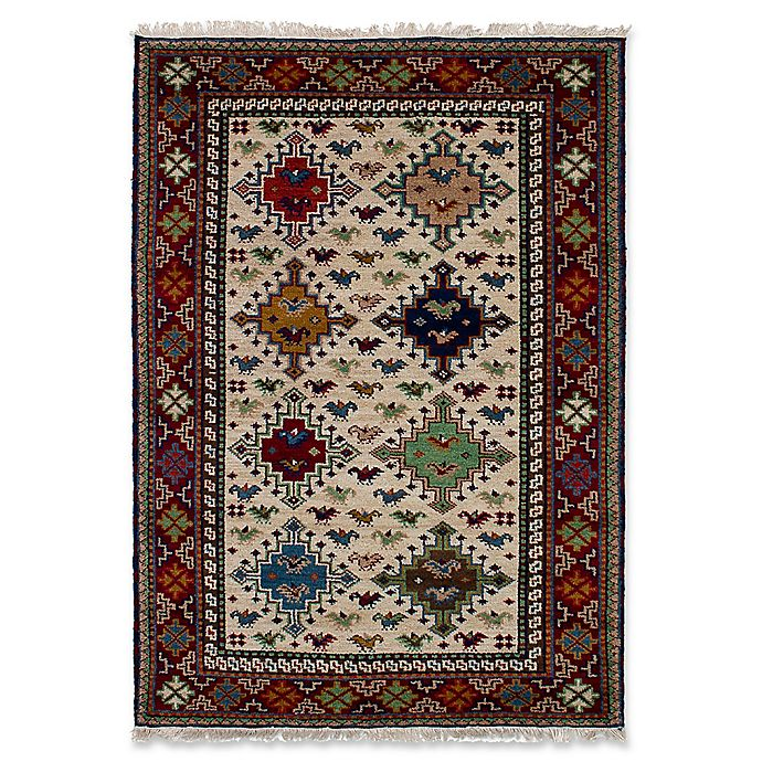 Alternate image 1 for ECARPETGALLERY One of a Kind Royal Kazak 4'1 x 5'11 Hand-Knotted Area Rug