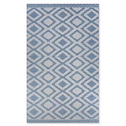 Couristan® Harper Nambia 7'6 x 10'9 Accent Rug in Blue