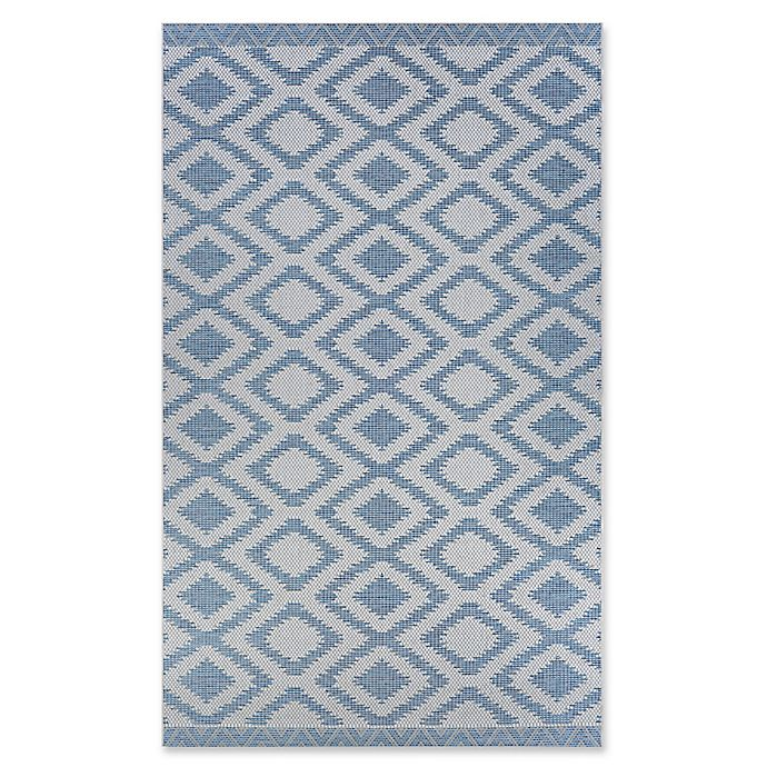 Couristan 174 Harper Nambia Accent Rug In Teal Bed Bath