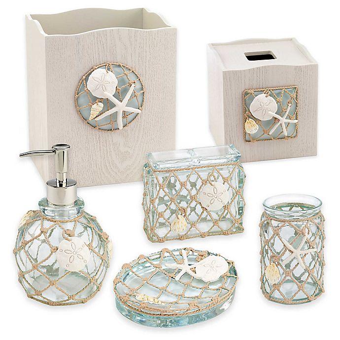 Avanti Sea Glass Bath Accessory, Beach Bathroom Accessories