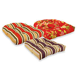 Outdoor Tufted Wicker Chair Cushions