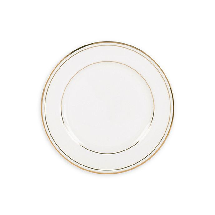 Alternate image 1 for Nevaeh White® by Fitz and Floyd® Grand Rim Double Band Gold Appetizer Plate