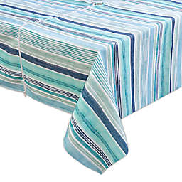 Destination Summer Laguna Striped Indoor/Outdoor Tablecloth